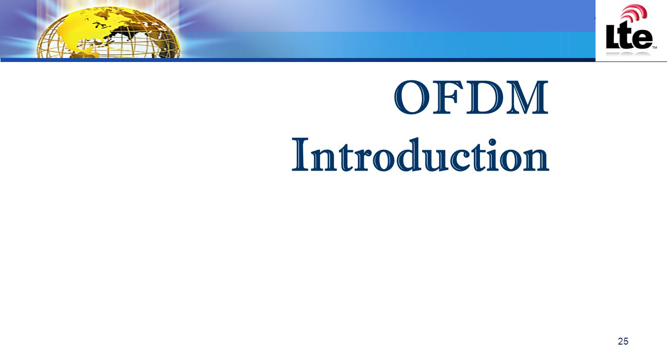 LOGO OFDM Introduction 25