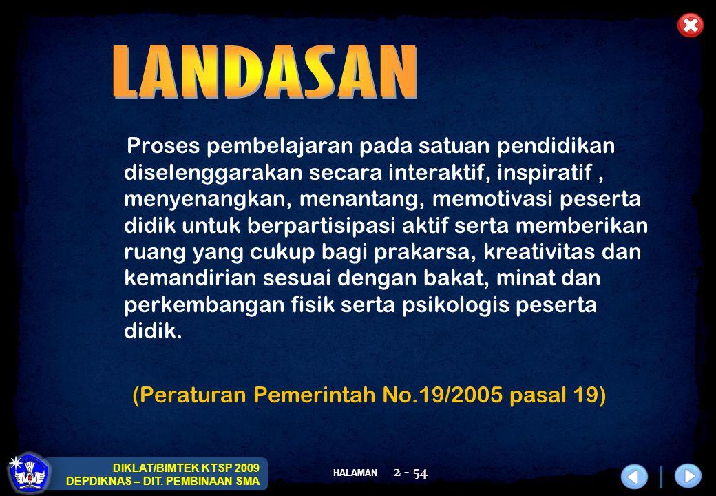 SOSIALISASI DAN PELATIHAN KTSP 2009 DEPARTEMEN PENDIDIKAN NASIONAL HALAMAN 53