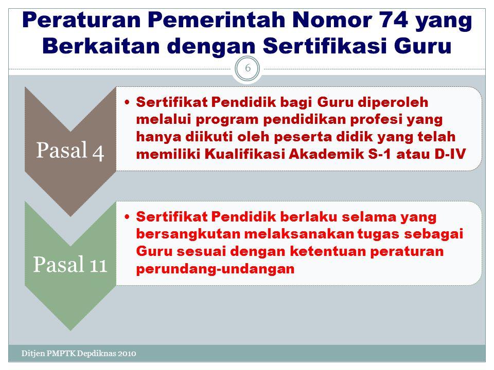 1 Membentuk Panitia Sertifikasi Guru (PSG) 2 Bersama Disdik LPMP dan Kab/Kota Hitung Kuota Sergur Kab/Kota 27Ditjen PMPTK Depdiknas 2010