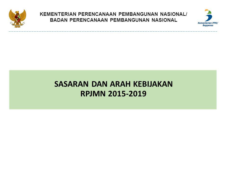 Indikator 2014 (Baseline) 2019 Pembangunan Kawasan Perkotaan a.Pembangunan Metropolitan di Luar Jawa sebagai PKN dan Pusat Investasi 2 2+ 5(usulan baru) b.Optimalisasi 20 kota otonomi berukuran sedang di Luar Jawa sebagai PKN/PKW dan penyangga urbanisasi di Luar Jawa 43 kota belum optimal perannya 20 dioptimalkan perannya c.Penguatan 39 pusat pertumbuhan sebagai Pusat Kegiatan Lokal (PKL) atau Pusat Kegiatan Wilayah (PKW) -- 39 pusat pertumbuha n yang diperkuat d.Pembangunan 10 Kota Baru Publik -- 10 Kota Baru ARAH KEBIJAKAN: 1.Perwujudan Sistem Perkotaan Nasional.