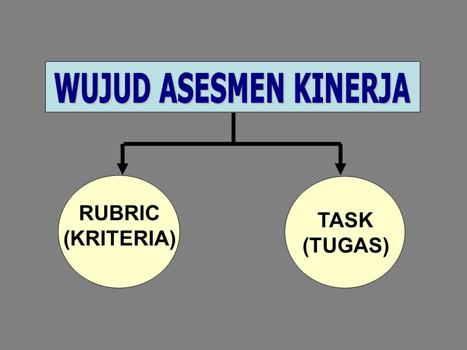 TASK (TUGAS) RUBRIC (KRITERIA)