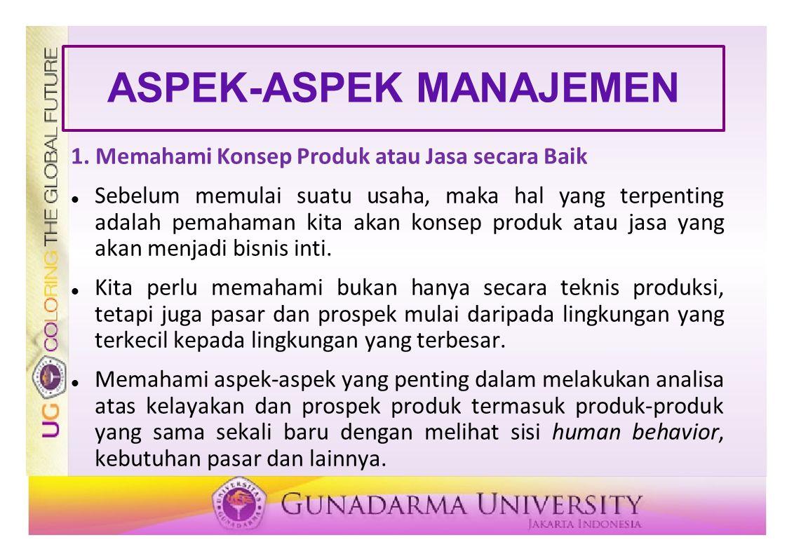 ASPEK-ASPEK MANAJEMEN 1.