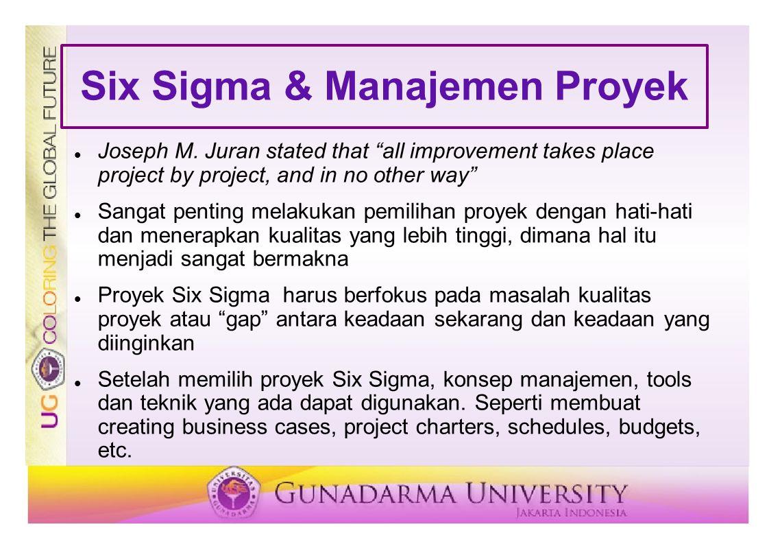 Six Sigma & Manajemen Proyek Joseph M.