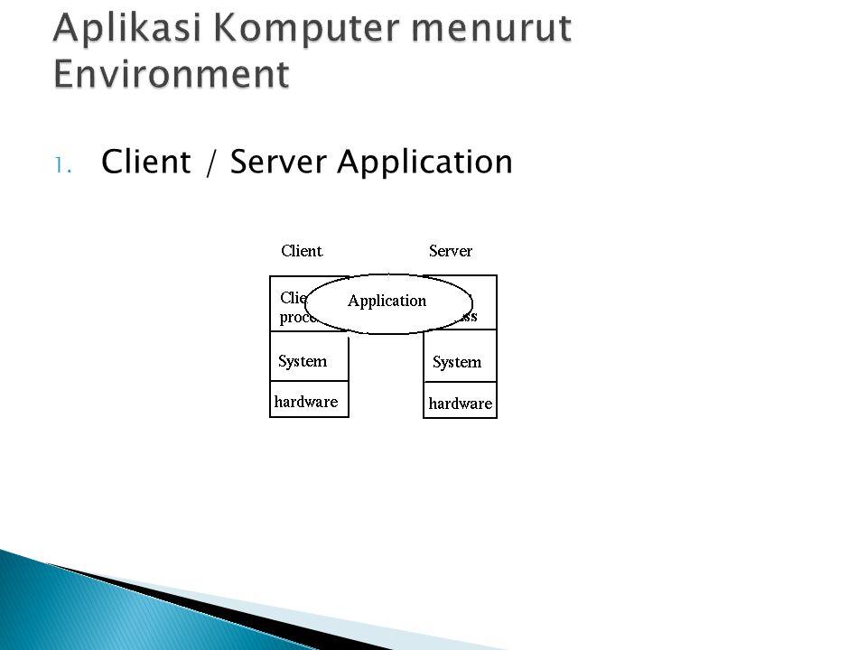  Sebuah contoh dari aplikasi client/server sederhana adalah aplikasi web yang didesain dengan menggunakan Active Server Pages (ASP) atau PHP.