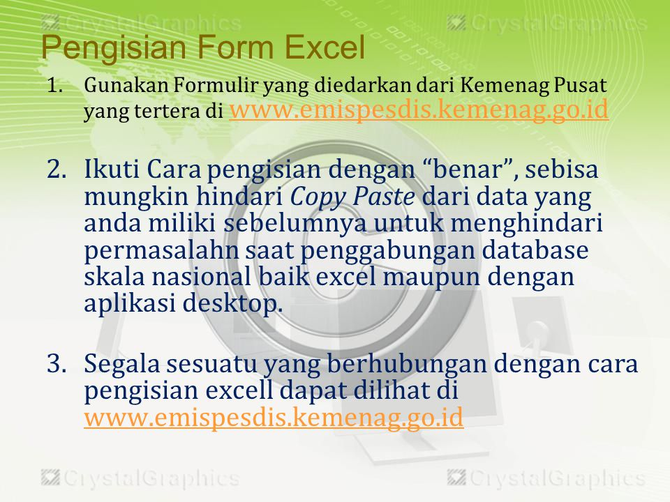 Hal ini diakibatkan perilaku Copy Paste dari data yang sudah ada dan kurang cermat (perhatikan Header excell dan kolom lainnya), Contoh kesalahan adalah sebagai berikut ini: Format dengan nilai E+17 itu salah..Seharusnya tertulis seperti deret text biasa yakni 123456789012345678.