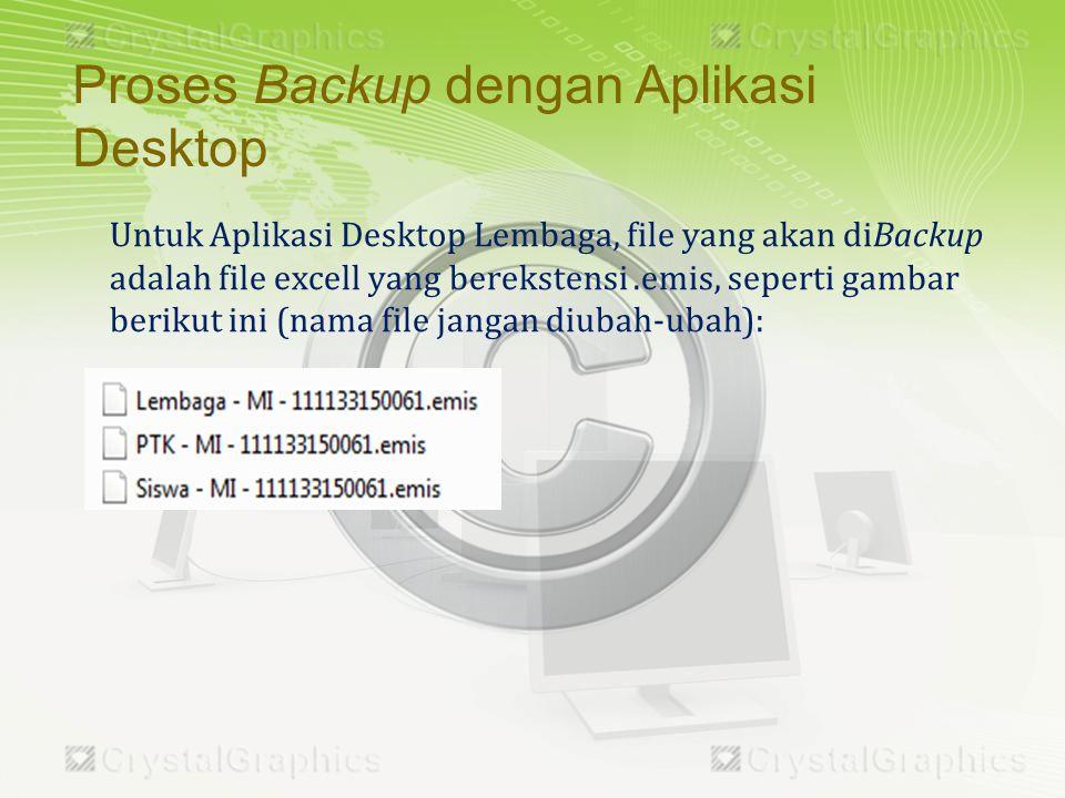 Proses Upload hasil Backup Aplikasi Desktop ke Server EMIS dengan menggunakan Aplikasi Online yang SEGERA DI-LAUNCHING.