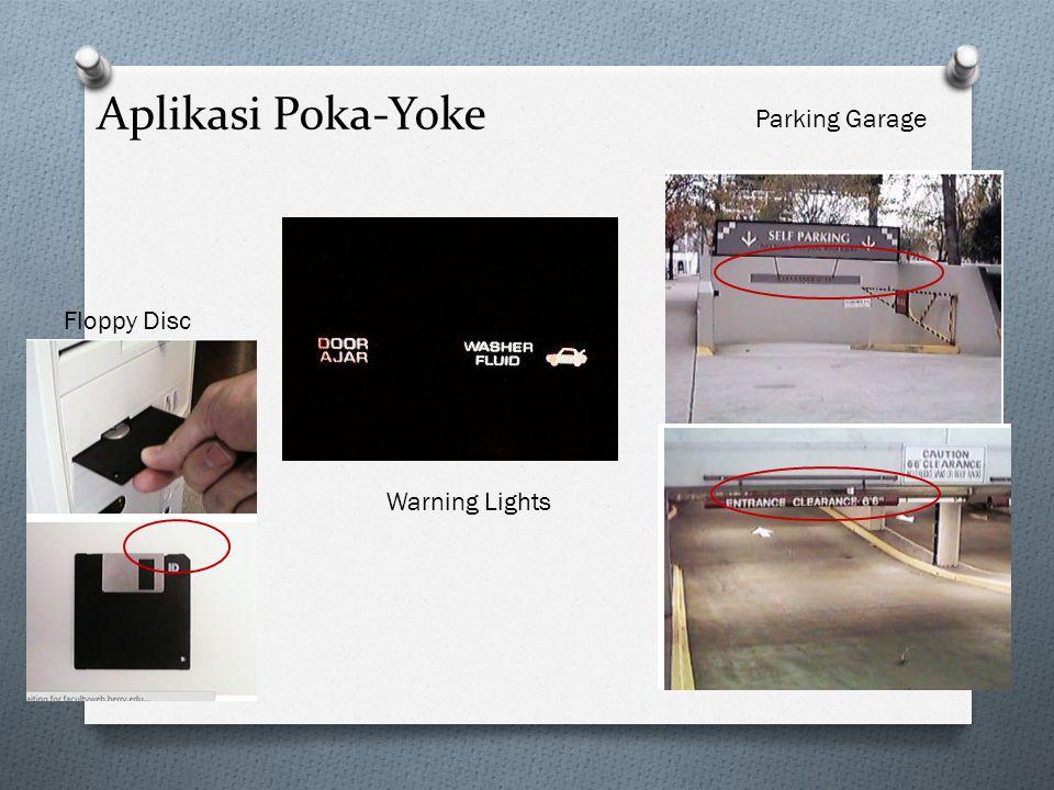 Aplikasi Poka-Yoke Floppy Disc Warning Lights Parking Garage