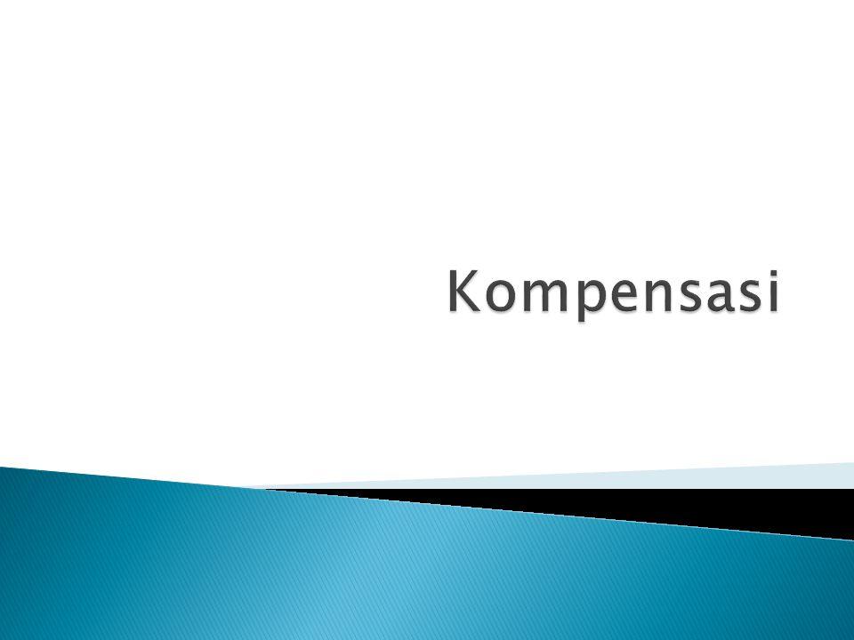  Definisi Kompensasi  Jenis Kompensasi  Dasar/Penentu besaran kompensasi  Job Evaluation: definisi,tujuan,metode  Job Pricing  Bentuk lain kompensasi  Kompensasi executive
