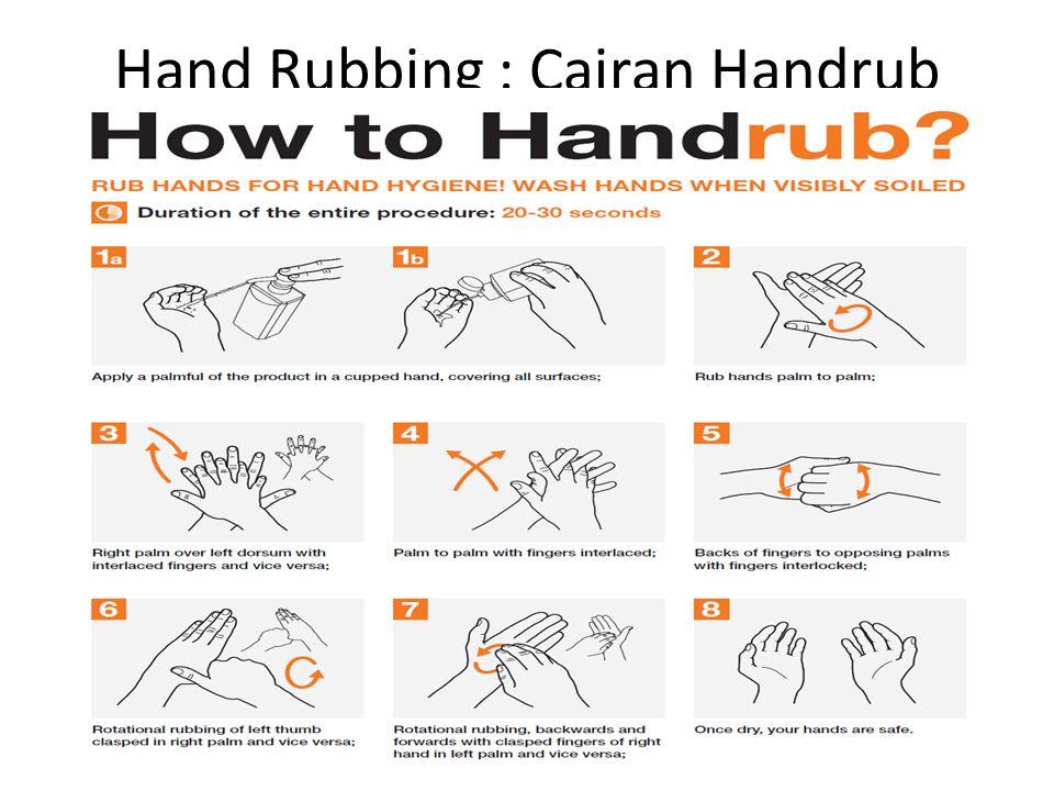 Hand Rubbing : Cairan Handrub