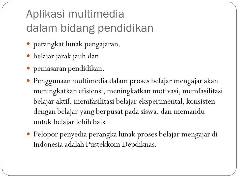 Aplikasi multimedia dalam bidang pemerintahan E-Government: G-to-C, G-to-G, G-to-B, G-to-E Profil Departemen.