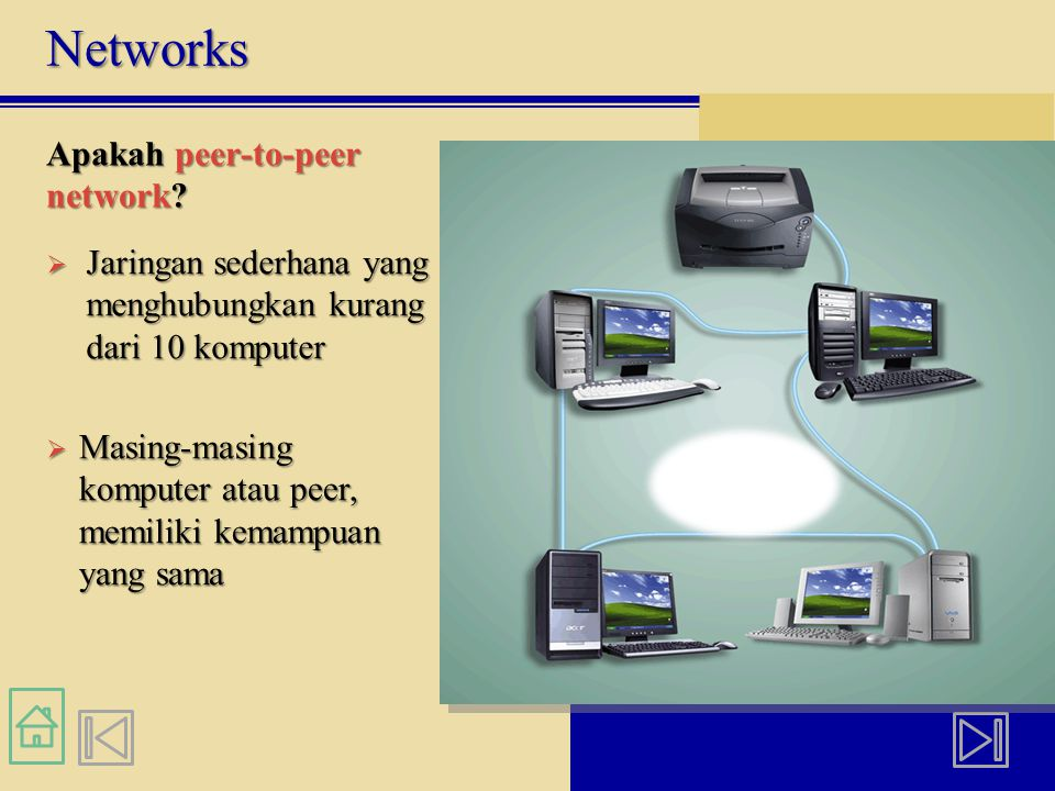 Networks Apakah peer-to-peer network.