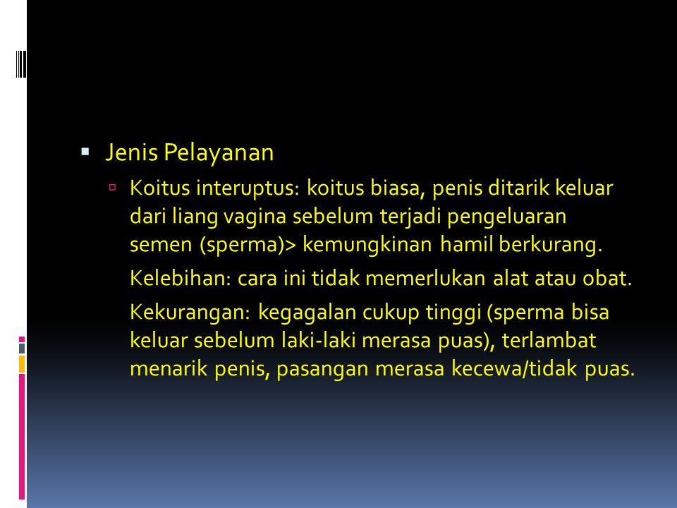  Pantang Berkala: tidak melakukan koitus pada saat isteri dalam masa subur.
