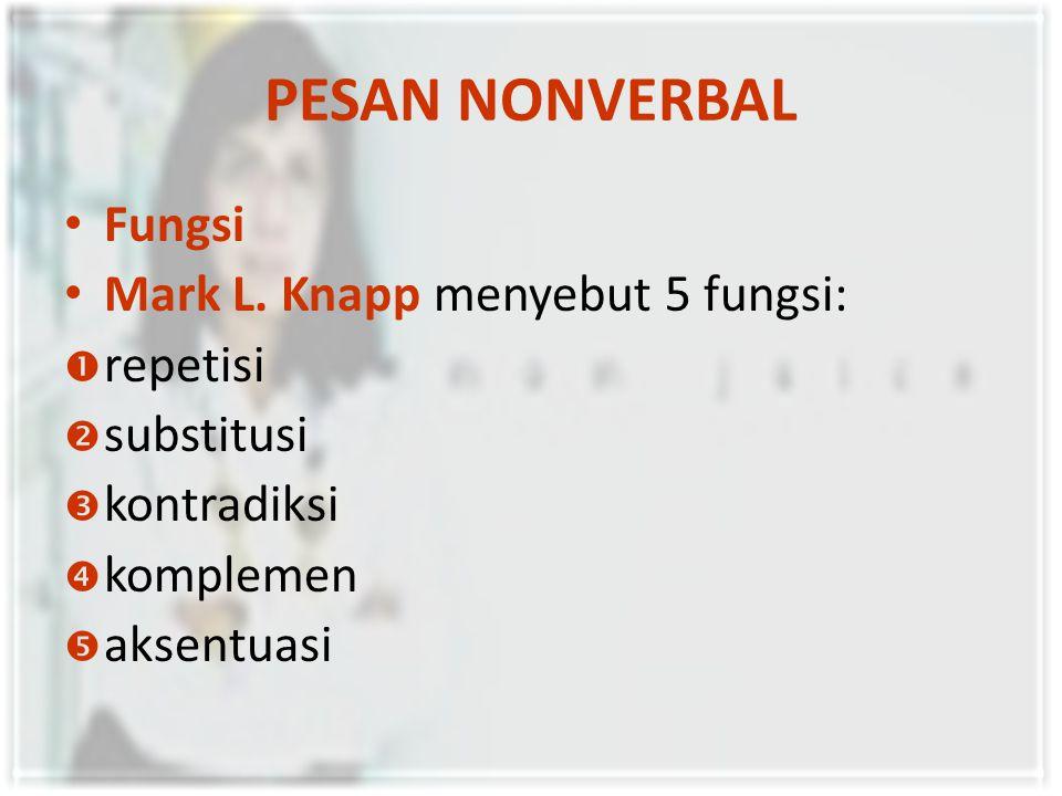 PESAN NONVERBAL Fungsi Mark L.