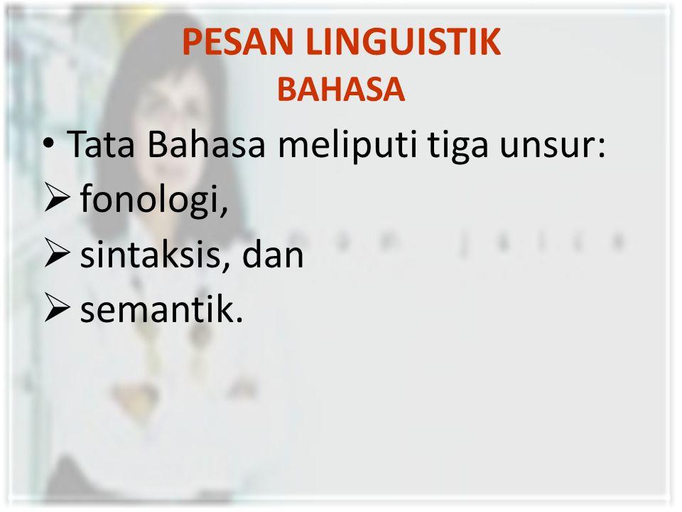 PESAN LINGUISTIK BAHASA George A.