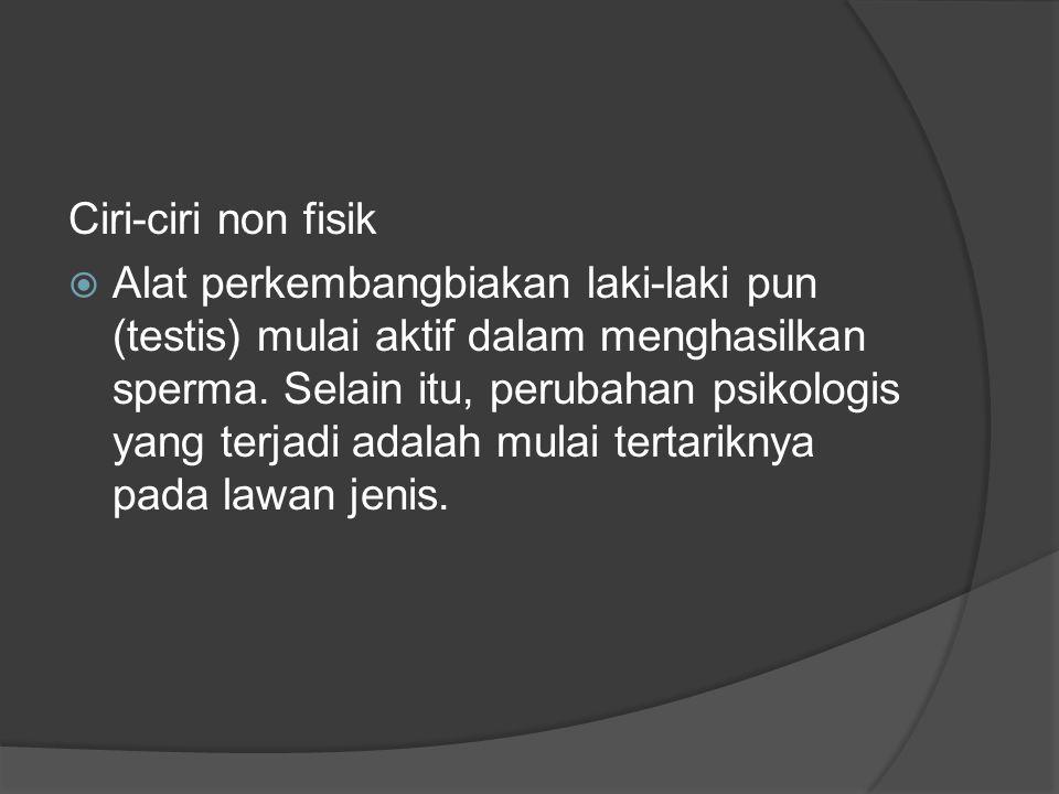 Pubertas pada perempuan Ciri- ciri fisik  Tumbuhnya payudara  Pinggul melebar sehingga bentuk tubuh pun akan terlihat lebih melekuk.
