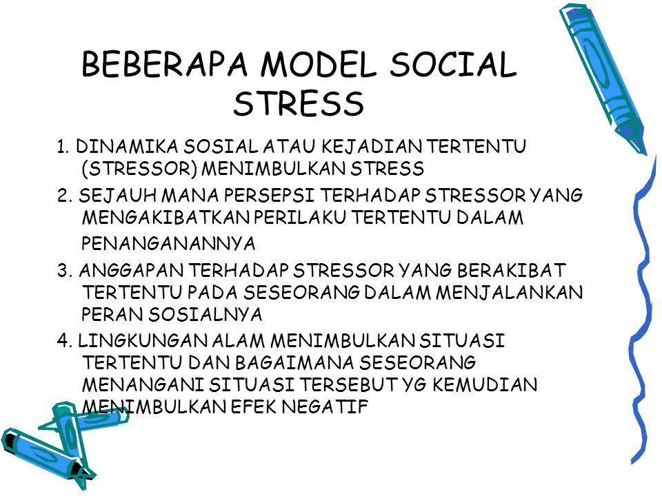BEBERAPA MODEL SOCIAL STRESS 1.