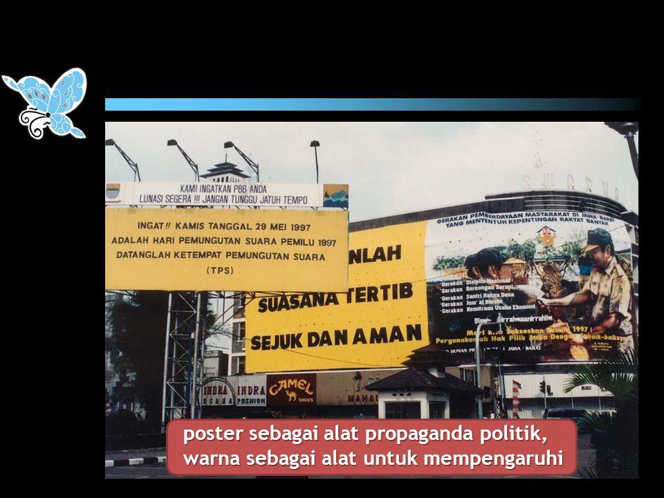 poster sebagai alat propaganda politik, warna sebagai alat untuk mempengaruhi