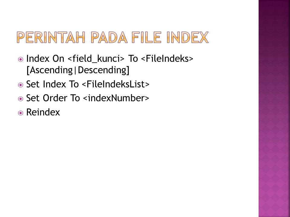  Untuk menjalankan menu harus di generate dahulu, sehingga menjadi file berekstensi.MPR.