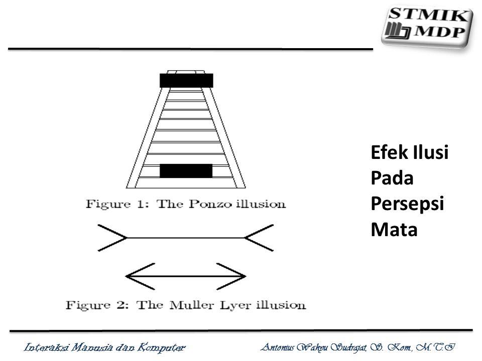 Interaksi Manusia dan Komputer Antonius Wahyu Sudrajat, S. Kom., M.T.I Efek Ilusi Pada Persepsi Mata