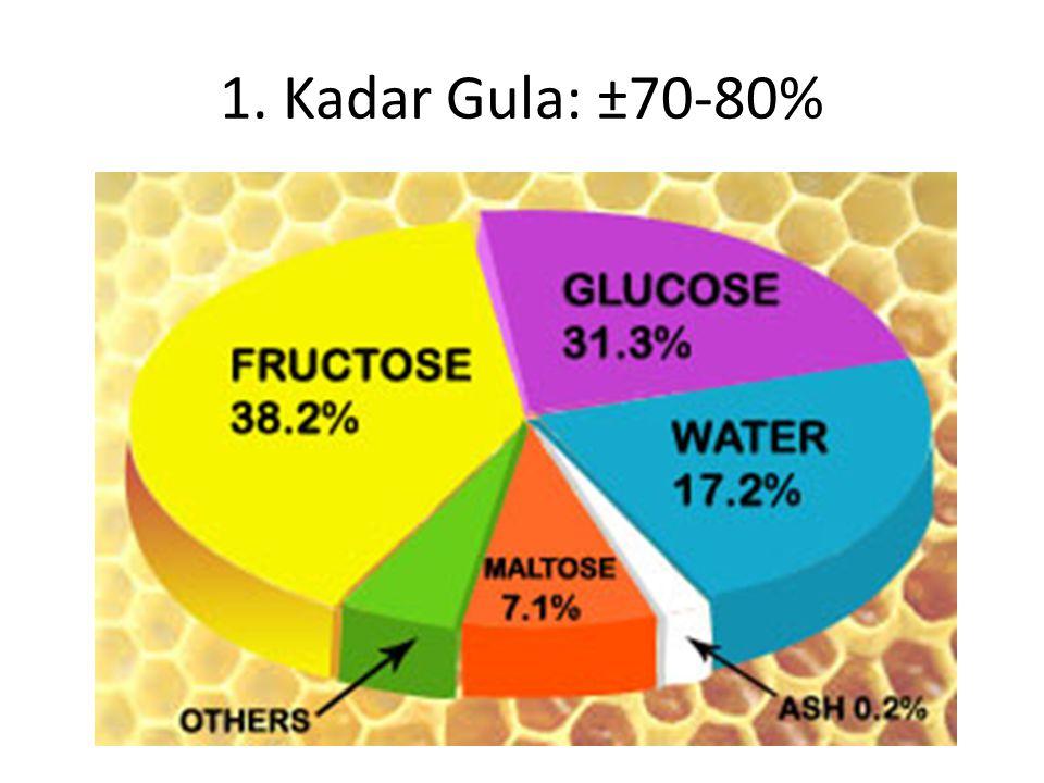1. Kadar Gula: ±70-80%
