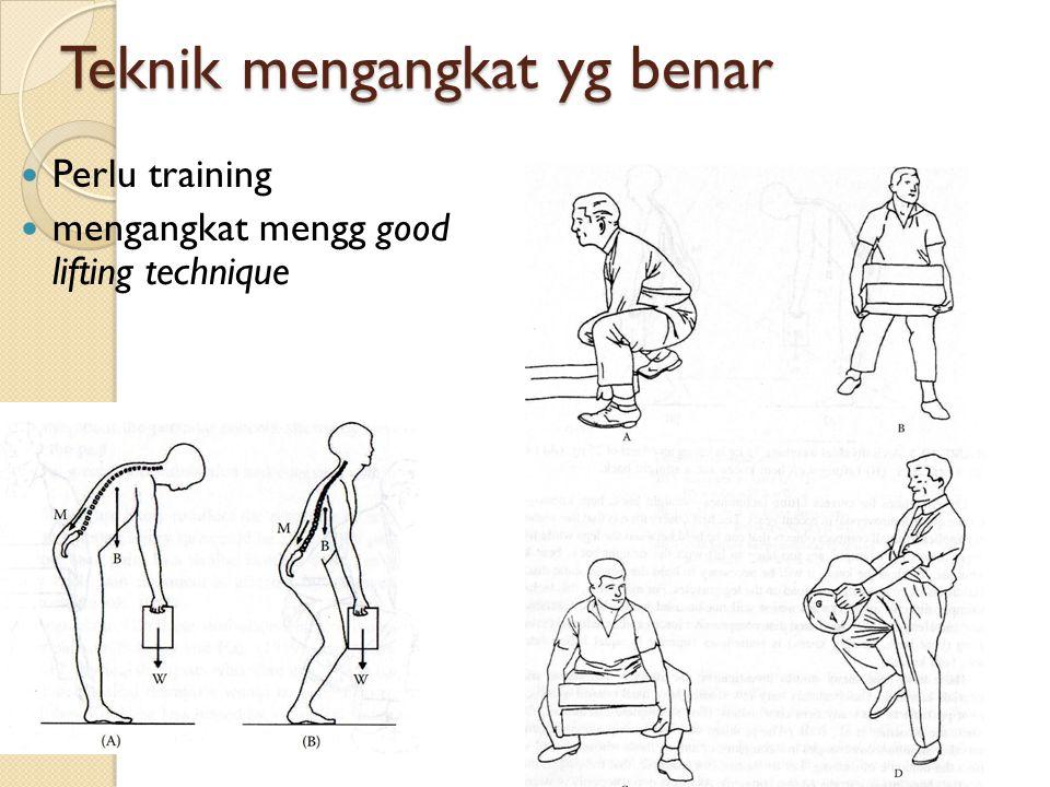 Teknik mengangkat yg benar Perlu training mengangkat mengg good lifting technique
