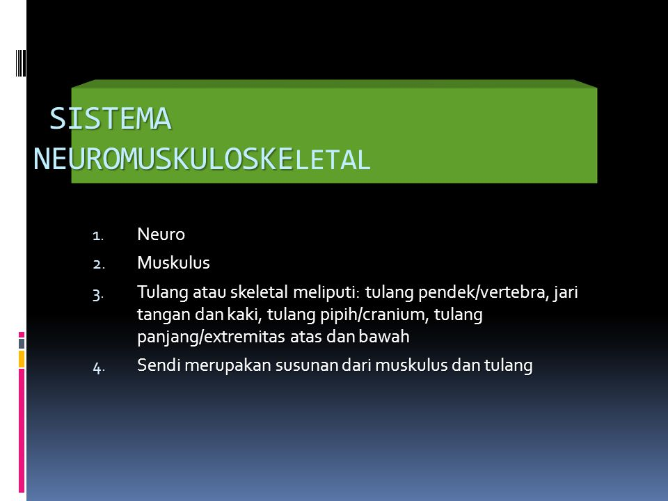 SISTEMA NEUROMUSKULOSKE SISTEMA NEUROMUSKULOSKE LETAL 1.