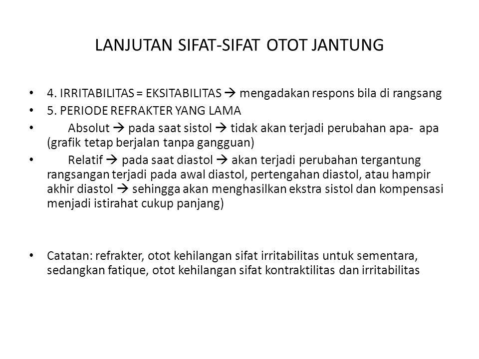 LANJUTAN SIFAT-SIFAT OTOT JANTUNG 4.