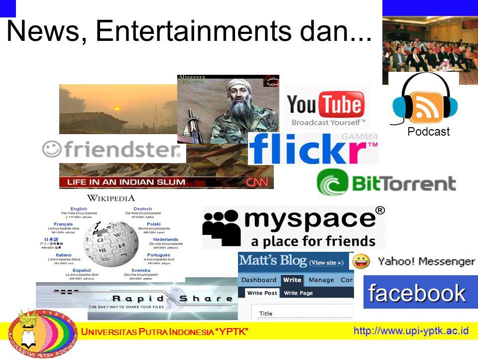 U NIVERSITAS P UTRA I NDONESIA YPTK News, Entertainments dan...http://www.upi-yptk.ac.id Podcast facebook