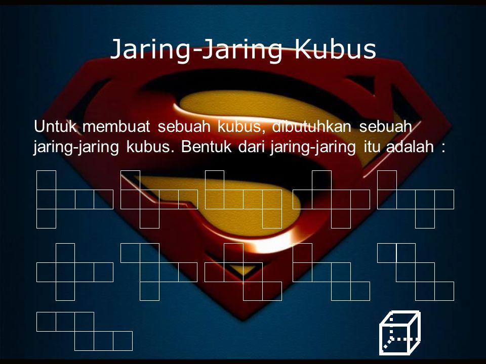 Jaring-Jaring Kubus Untuk membuat sebuah kubus, dibutuhkan sebuah jaring-jaring kubus.