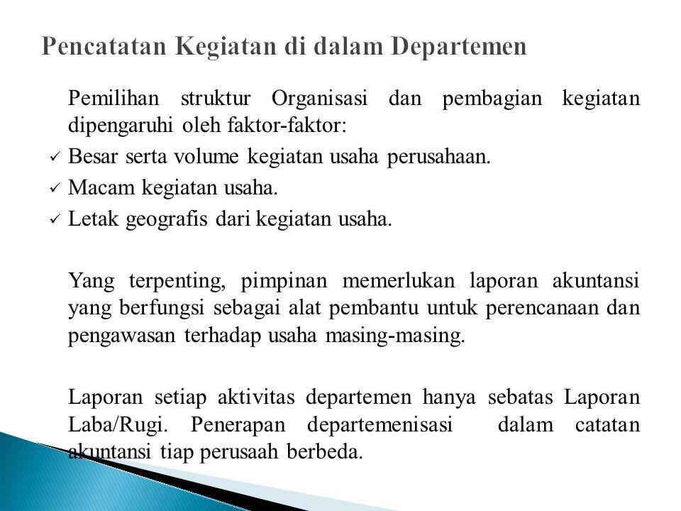 Sistem pencatatan Perpetual; Jurnal pada buku Kontor Pusat.