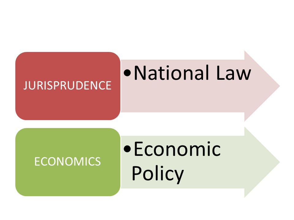 National Law JURISPRUDENCE Economic Policy ECONOMICS