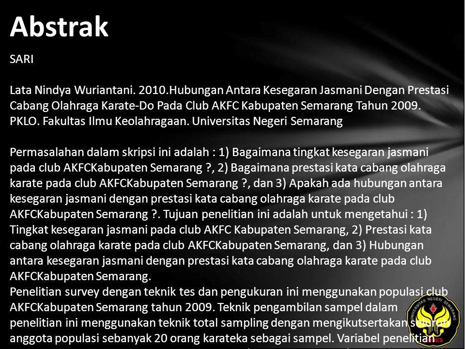 Abstrak SARI Lata Nindya Wuriantani.
