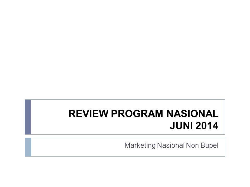Penjualan Program Nasional – Juni 2014  Data penjualan ini meliputi 8 program yang telah digulirkan secara nasional mulai Januari – Juni 2014.