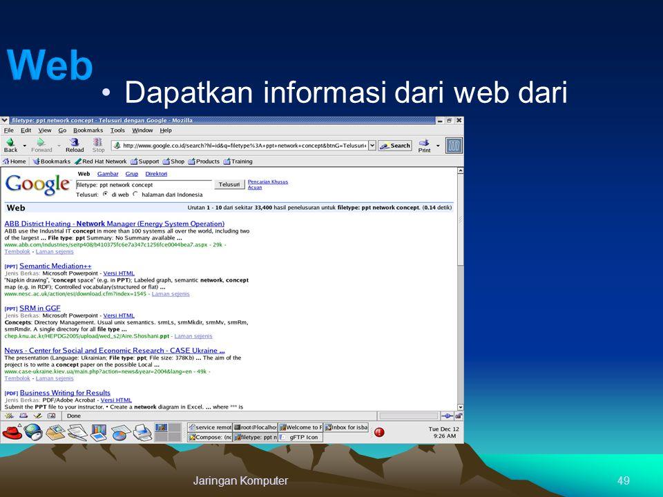 Jaringan Komputer49 Dapatkan informasi dari web dari seluruh dunia