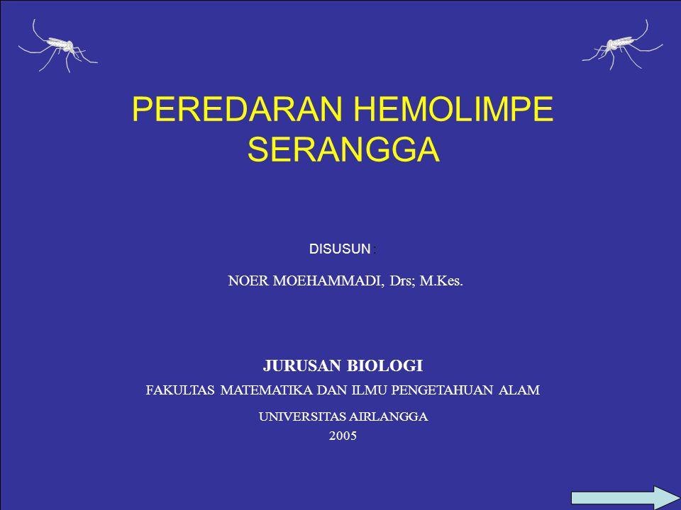 PEREDARAN HEMOLIMPE SERANGGA DISUSUN : NOER MOEHAMMADI, Drs; M.Kes.