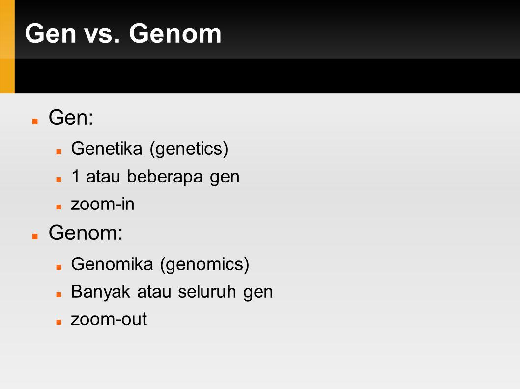 -om & -omika Genom (gen+kromosom, Prof.
