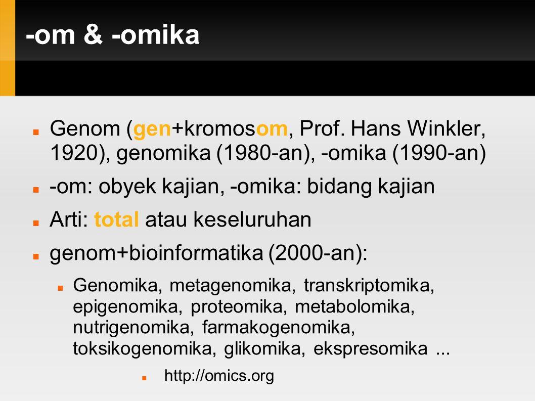 -omika Omika adalah istilah umum untuk sebuah bidang ilmu sains dan teknik yang mempelajari interaksi obyek informasi hayati dalam berbagai om .