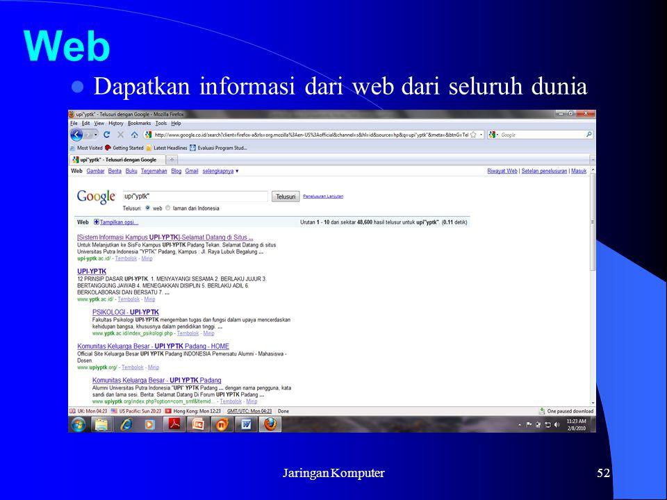 Jaringan Komputer52 Dapatkan informasi dari web dari seluruh dunia