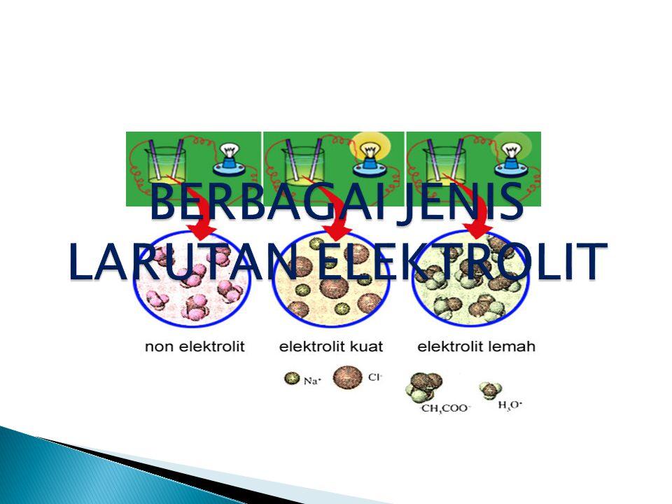 Kekuatan larutan elektrolit erat kaitannya dengan derajat ionisasi/disosiasi.
