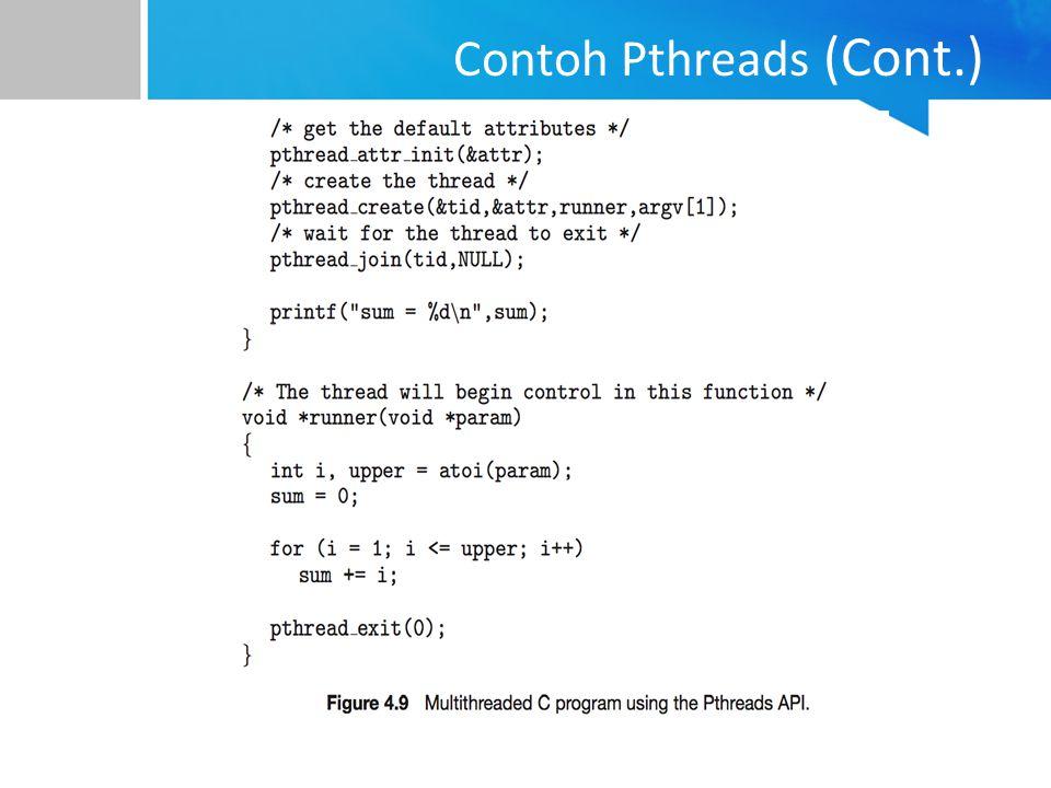 Contoh Pthreads (Cont.)