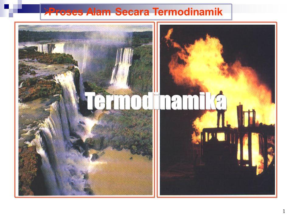  SPONTANITAS REAKSI DAN  H  H – (Eksoterm) umumnya berlangsung spontan - Air terjun - Bensin terbakar, dsb.