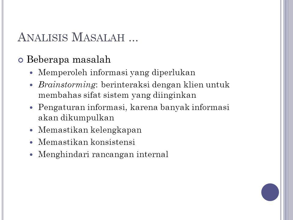 A NALISIS M ASALAH...