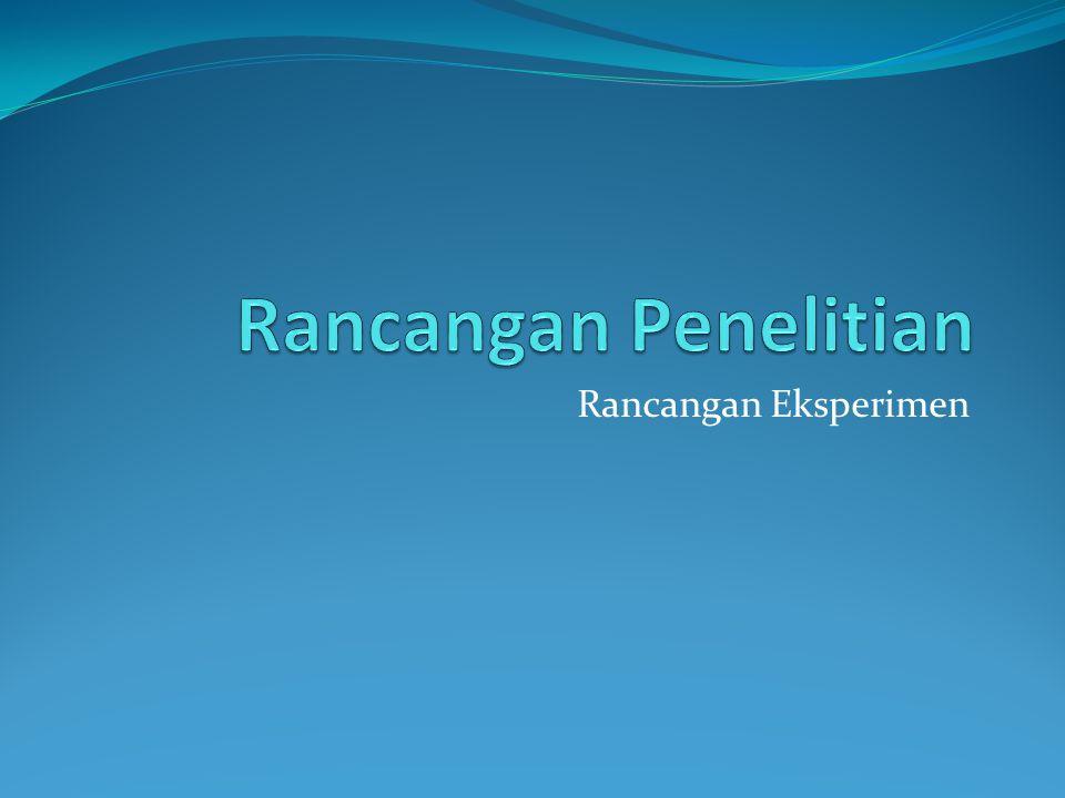 Rancangan Eksperimen