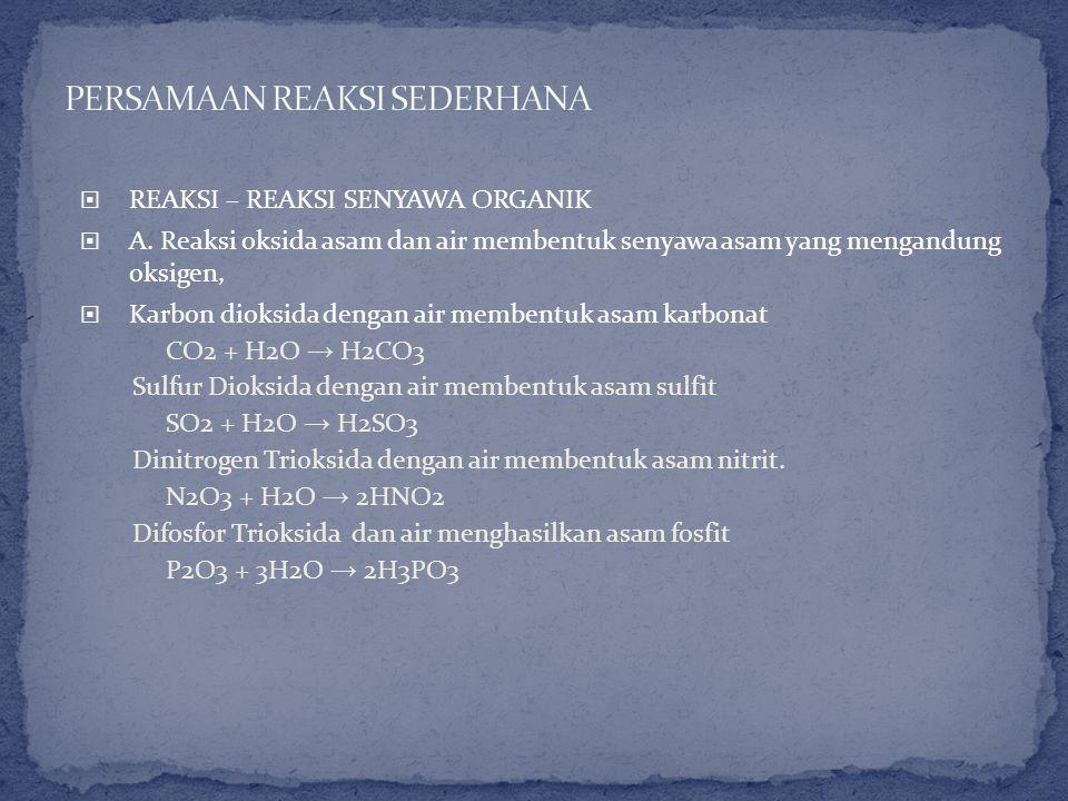 Sebagai contoh, perhatikan persamaan reaksi untuk oksidasi magnesium.