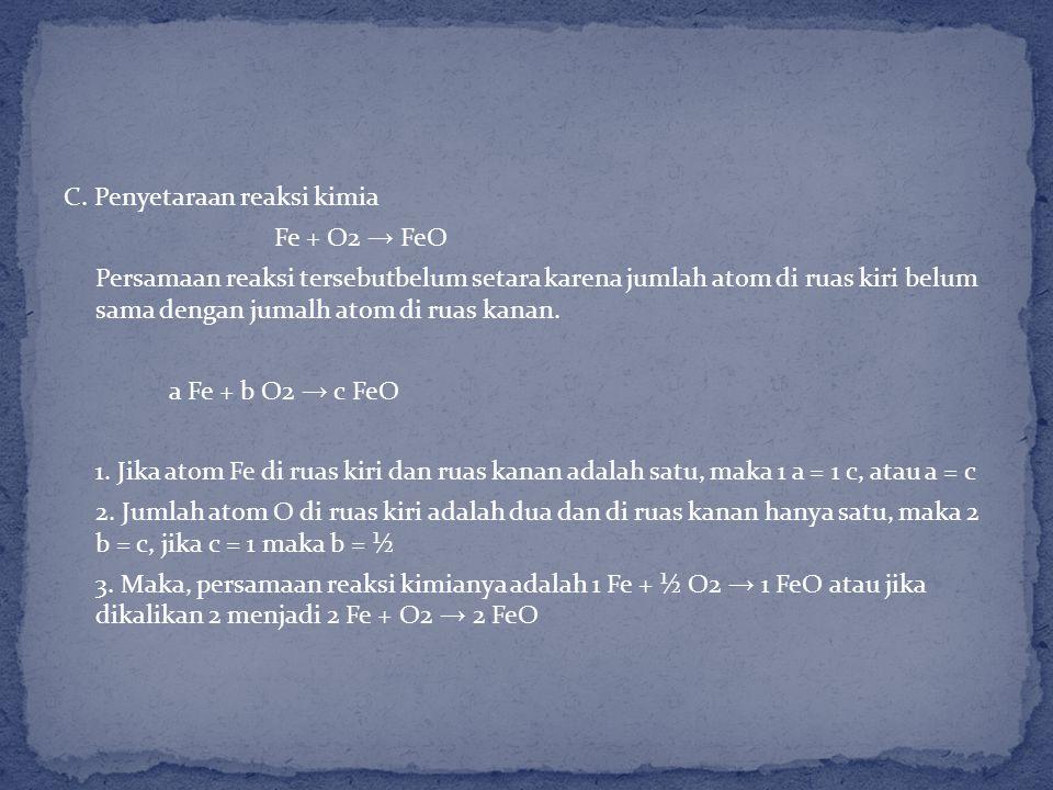 B. Reaksi oksida basa dengan air membentuk senyawa basa yang mengandung OH. Natrium oksida dengan air membentuk natrium hidroksida Na2O + H2O → 2NaOH