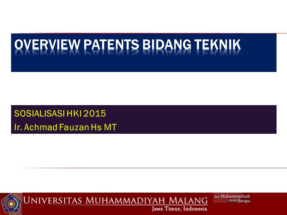 SOSIALISASI HKI 2015 Ir. Achmad Fauzan Hs MT