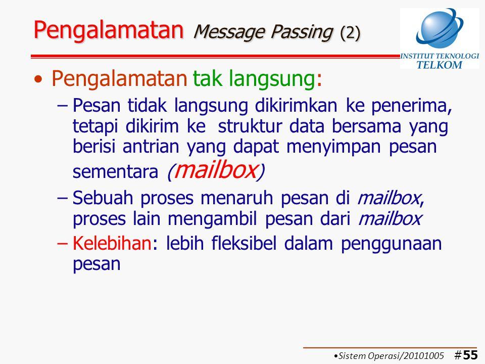#56 Pengalamatan Message Passing (3) Model relasi pengalamatan tak langsung:.