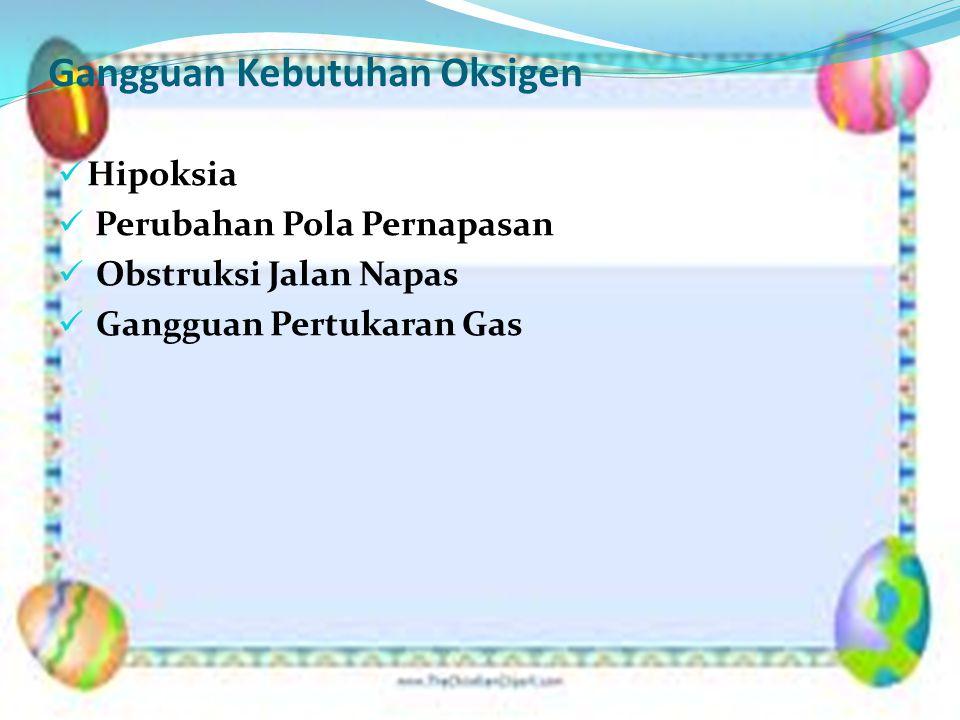 Asuhan Keperawatan Pasien dengan Gangguan Oksigenasi 1.