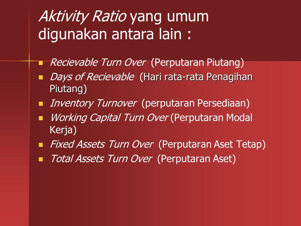 RUMUS: Penjualan Bersih Perputaran Aset Tetap = --------------------------- Total aset tetap