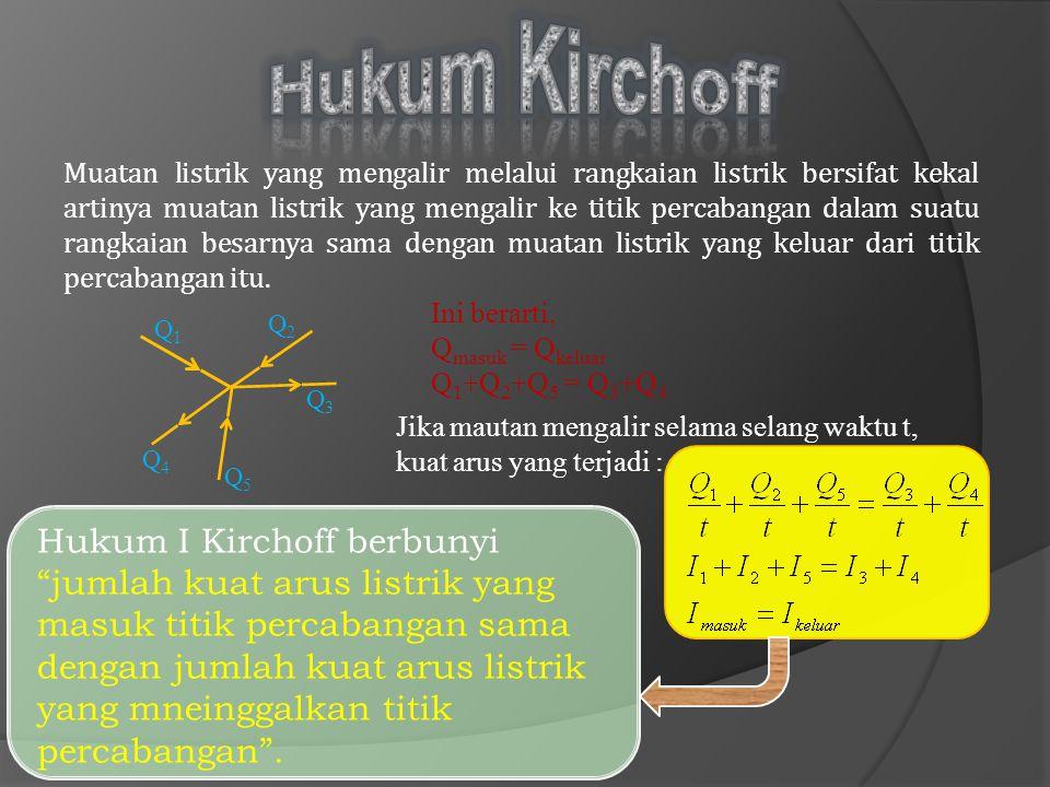 Hambatan Seri Hambatan Paralel Dua hambatan atau lebih yang disusun secara berurutan disebut hambatan seri.